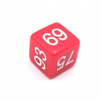 RED OPAQUE D6 DICE