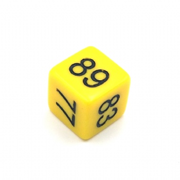 YELLOW OPAQUE D6 DICE