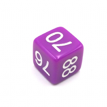 PURPLE OPAQUE D6 DICE