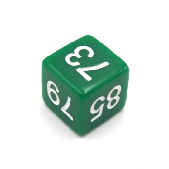 GREEN OPAQUE D6 DICE