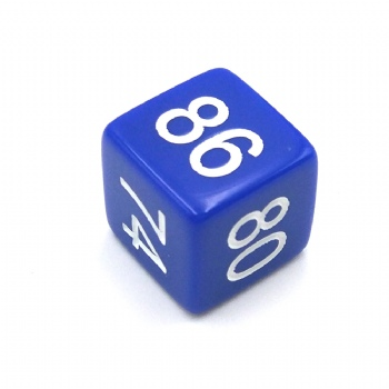 BLUE OPAQUE D6 DICE