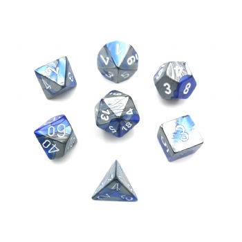 GEMINI BLUE & STEEL DICE SET