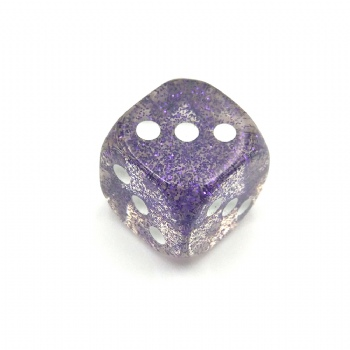 PURPLE GITTER D6 DICE