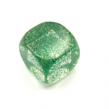 GREEN GITTER D6 DICE