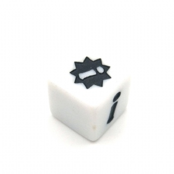 CUSTOM WHITE D6 DICE