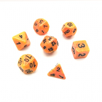 SPECKLED ORANGE DICE SET