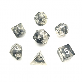 NEBULA BLACK CLEAR DICE SET