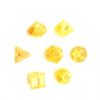 AMBER TRANSLUCENT DICE SET