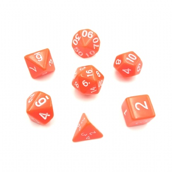 ORANGE RED DICE SET