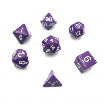 PURPLE DICE SET