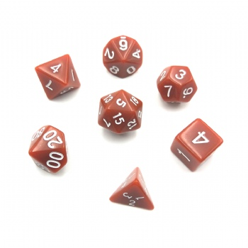 CHOCOLATE PLASTIC  DICE SET