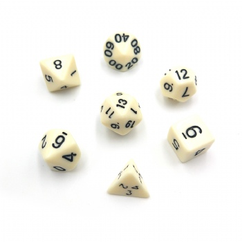 IVORY PLASTIC  DICE SET
