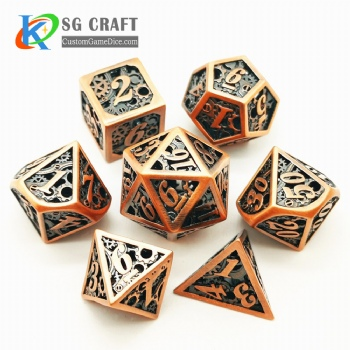 Hollow out machine style dice dnd game metal custom dice