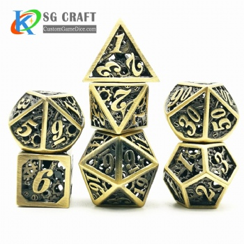 Hollow out machine style dice dnd game metal dice