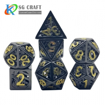 Hollow out Statue of Liberty style Dnd Game Metal Dice