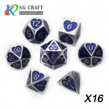 Heart Metal Dice dnd game metal custom dice