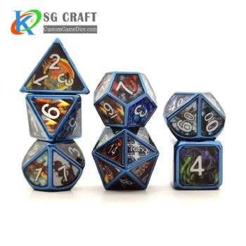 Dragon metal dice dnd game metal custom dice