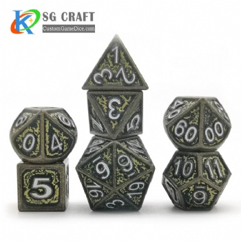 Texture metal dice dnd game metal custom dice