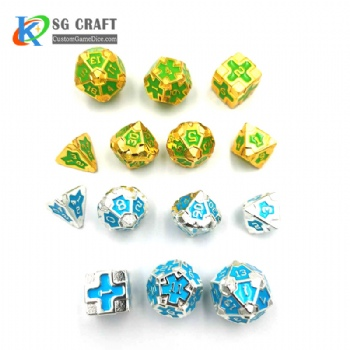 IRON MAN  METAL DICE SET