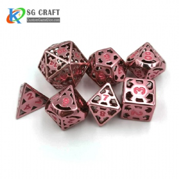 IRON MAN HOLLOWED-OUT METAL DICE SET