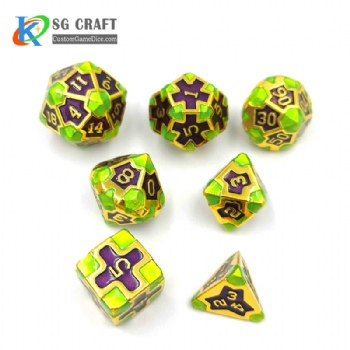 IRON MAN GREEN PLASTIC DICE SET