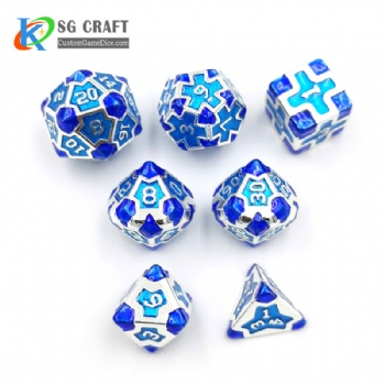 IRON MAN BLUE METAL DICE SET